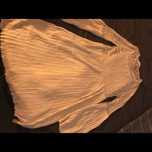 Anthropologie crochet cream colored dress